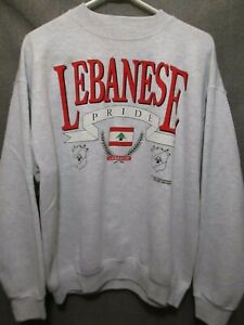 VTG LEBANESE PRIDE CREWNECK SWEATSHIRT FOTL ADULT MEN'S XL MADE IN USA