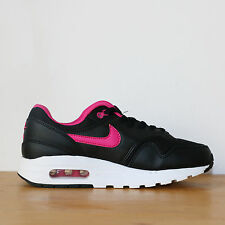 Nike Wmns Air Max 1 GS 5.5us - 38eu Black Pink Noir Rose Sneakers DS