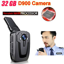 Mini Police Camera DVR Police Body Security Worn Pocket Camera D900 1080P 32GB S