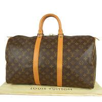 Auth LOUIS VUITTON Vintage M41428 Monogram Keepall 45 Travel Hand Bag 14093bkac