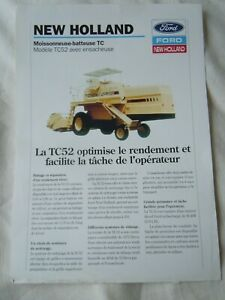 @Ford New Holland TC 52 Combine with Bagger Sales Sheet-in French@