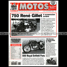 MOTOS D'HIER N°32 RENE GILLET 750 GNOME RHÔNE 125 R4 S ROYAL ENFIELD 500 FURY