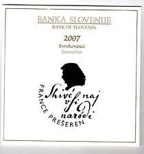 CARTERA OFICIAL SLOVENIA 2007 BU Slowenien 2007 coin set BU
