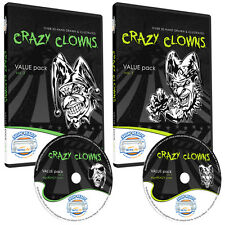 CLOWNS CLIPART COLLECTION -VINYL CUTTER PLOTTER IMAGES -EPS VECTOR CLIP ART CD