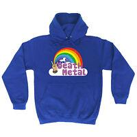 Death Metal Unicorn Rainbow HOODIE punk rock heavy music hoody birthday gift