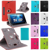 """360 Universal Leather wallet Stand Case Cover For 7"""" 7 Inch Android Tablet PC UK"""
