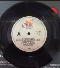 "PETER McCAIN DO YOU WANNA MAKE LOVE, RIGHT TIME NIGHT  7"" 45 Vinyl Record 1977"