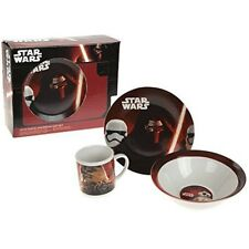 Star Wars 3pcs Porcelain Breakfast Set - 3 Piece Star Plate Bowl Mug Children