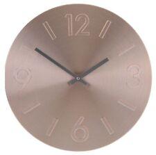 Large 35cm Aluminium Wall Clock in Gold Silver or Rose