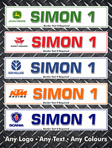 Show Custom Number Plate Room Novelty Door Sign Car Sales Acrylic Personalised