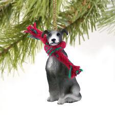 Greyhound Grey Hound Dog Tiny One Miniature Christmas Holiday ORNAMENT