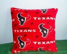 NEW HOUSTON TEXANS FLEECE PILLOW RED NAVY L@@K