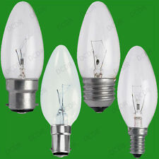 10x Clear Candle Dimmable Standard Light Bulbs 25W 40W 60W BC ES SBC SES Lamps