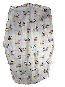 Vtg 1984 Walt Disney Co Babies Crib Sheet Dundee Mickey Minnie Pluto Fabric USA