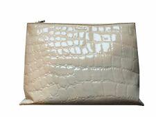 86eb5ffc23a MIU MIU Classic Women s Beige Patent Leather Alligator Large Clutch Bag  5bf029