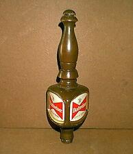 """Original Vintage Wood Budweiser """"King of Beers"""" Beer Tap Handle - very nice"""