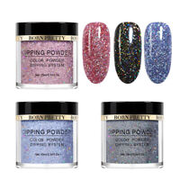 3Boxes/Set 10ml BORN PRETTY Dip Dipping Powder Holographic Glitter Dust Nail Art
