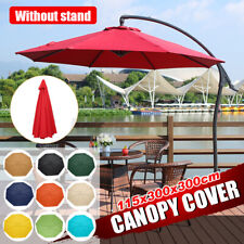 3x3m Replacement Fabric Parasol Canopy UV Cover For Outdoor Garden Arm
