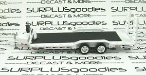 Greenlight 1:64 LOOSE Heavy Duty Trailer Farm Car Flatbed Hauler Tow w/Ramps