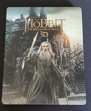 THE HOBBIT: DESOLATION OF SMAUG New 3D + 2D Blu-Ray STEELBOOK Region-Free Import