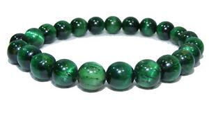Bracelet de perles OEIL DE TIGRE VERT Pierres naturelles 8 mm 18cm ou sur mesure