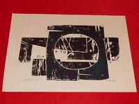 [ Coll. raoul-jean moulin Art 20th] Fero Kral ( Clear Cz) Lithography Techn