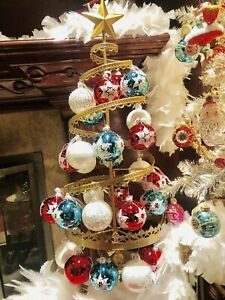 Spiral Ornament Christmas Tree 3 Foot Metal in Gold 0RM