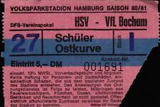 Ticket DFB-Pokal 80/81 Hamburger SV - VfL Bochum