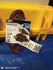 Cord Ext Indr 16/2sptx6ft Brown- Tools & Home Improvement