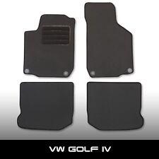 Fußmatten VW Golf 4 1J (1997-2006) Schwarz Autoteppiche nadelfilz 4tlg