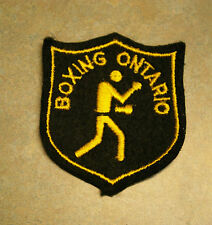 "VINTAGE 'BOXING ONTARIO' 3.5"" PATCH"