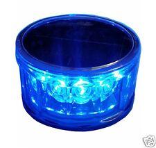 S12LM BLUE LED SOLAR AC DC BEACON SOS REVOLVING  FLASHING SOS SAFETY LIGHT