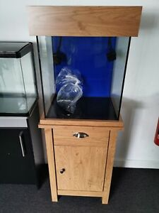 Ex Display Aqua One Oakstyle 85L Oak Fish Tank cabinet Aquarium with LED Light