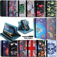"For 7"" 8"" 10"" Huawei MediaPad Tablet - Folio Leather Rotating Stand Cover Case"