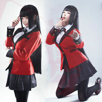 Anime Kakegurui Yumeko Jabami Cosplay Costume School Uniform Full Set Halloween