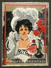"Dollhouse Miniatures Mirror Sign Advertising COCA COLA COKE GIRL 1 5/8"" x 2 1/4"""