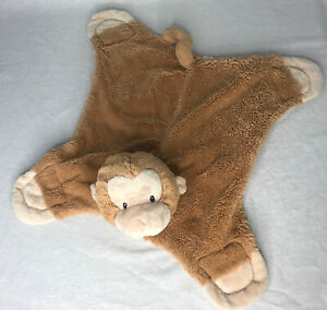 Baby Gund Comfy Cozy Pippy Monkey Brown Plush Lovey Security Blanket