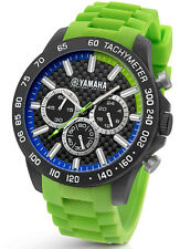TW Steel Yamaha Factory Racing 45mm Green Strap Chronograph Watch Y118