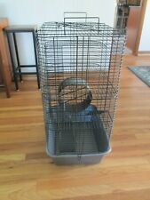 Large Rat and Small Animal Cage, Black Metal 3 Tier with Exercise Wheel