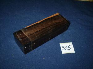 Ziricote Messergriff  Messergriffblock 120 x 40 x 30 mm  Nr. 915