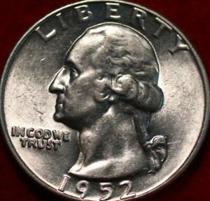 Uncirculated 1952  Philadelphia Mint Silver Washington Quarter