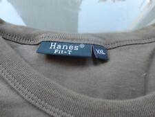 Langärmeliges T-Shirt Hanes T-Fit oliv 2XL