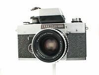Exakta RTL 1000 35mm Film SLR, Pancolar 50mm f1.8 Lens, Clean, with Case