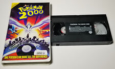 Pokémon the Movie 2000 (VHS, 2000, Clamshell) Complete