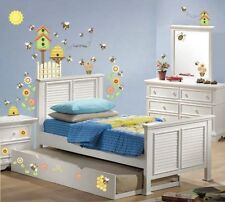 LET IT BEE HAPPY WALL DECALS 54 Bees Beehives Flowers Birdhouse Stickers Decor