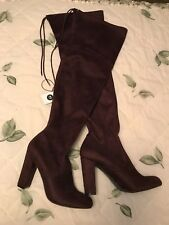 New Women's Penelope Heeled Over The Knee Boots - A New Day Burgundy (Red)