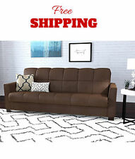 CONVERTIBLE COUCH SOFA FUTON Sleeper Bed Living Room Furniture Microfiber New
