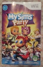 Nintendo Wii - MySims Party (Manual billingual only)