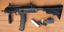 MP7 Style Auto Electric Airsoft Gun w/Fore Grip& Retractable Stock, High Cap Mag