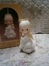 Precious Moments Ornament But Love Goes On Forever Boy Angel on Cloud Christmas